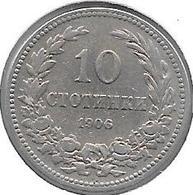 *bulgaria 10 Stotinski 1906 Km 25   Vf+ - Bulgarie