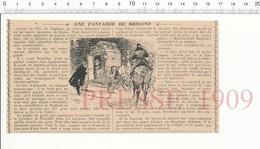 Presse 1909 Anecdote Sur La Danseuse Taglioni Et Le Brigand Russe Trischka Voiture Malle-poste 216PF10XR - Old Paper