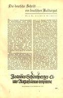 Die Deutsche Schrift - Ein Deutsches Kulturgut  /Artikel, Entnommen Aus Zeitschrift /1935 - Bücher, Zeitschriften, Comics