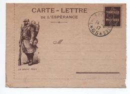 """CARTE LETTRE DE L'ESPERANCE FM """"UN BRAVE POILU"""" - Marcophilie (Lettres)"""