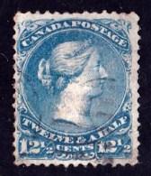 Canada 1868 Queen Victoria 121/2c Blue Used  SG 60 - 1851-1902 Reign Of Victoria