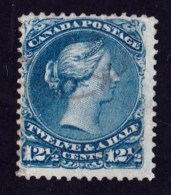 Canada 1868 Queen Victoria 121/2c Blue Used  SG 60 - - 1851-1902 Reign Of Victoria