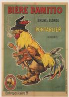 """CARTE POSTALE """"BIERE DAMITIO"""" PONTARLIER (DOUBS) NON CIRCULEE - Publicité"""