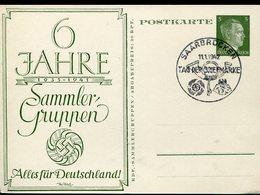 33936 Germany Reich,stationery Card 5pf. With Special Postmark 1942 Saarbrucken,tag Der Briefmarke, Stamp Day - Deutschland