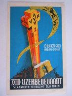 1951 Kaaskerke-Diksmuide 24e IJzerbedevaart Vlaanderen Herbouwt Zijn Toren Gelopen - Diksmuide