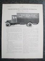 PUBBLICITA'/PUBLICITE'  GRAND FURGON SAURER 5 TONNES Da Rivista AUTO CARRROSSERIE 1927 - KFZ