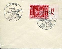 33944 Germany Reich,special Postmark Augsburg 1942 Tag Der Briefmarke, Stamp Day 1942 - Deutschland