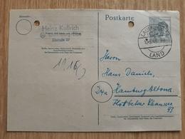 Postkarte GERMANY 1948 Deutsche Post,,  CANCEL LAUENBURG 1948, - Briefe U. Dokumente