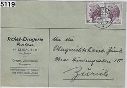 1946 Pestalozzi 275/469 Rorbas-Freienstein (Irchel-Drogerie) 4.II.46 - Schweiz