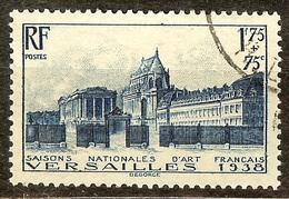 SUPERBE VERSAILLES 1938 YT N°379 Oblitéré CàD Cote 21,50 Euro PAS D'AMINCI - Usati