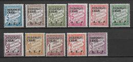 OUBANGUI - TAXE YVERT N°  1/11 *  - COTE = 38 EUROS - CHARNIERE LEGERE - Ubangui (1915-1936)