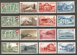 16 Timbres Suisse ( Pro-Patria De 1945/48 ) - Neufs