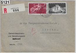 1948 Recommande 282-283/497-498 Adliswil To Zürich - Betreibungsamt 4.XI.48 - Briefe U. Dokumente