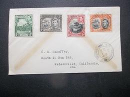 Grenada: 1938 Cover To Watsonville, California, USA (#HD7) - Dominica (...-1978)