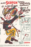 "Buvard "" Scotch Ruban Adhésif "" ( Pliures, Rousseurs, 21 X 13.5 Cm ) - Stationeries (flat Articles)"