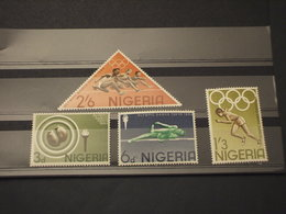 NIGERIA - 1964 GIOCHI TOKYO 4 VALORI - NUOVI(++) - Nigeria (1961-...)