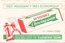 "Buvard "" Dentifrice Chewing-gum "" ( Pliures, Rousseurs, 18 X 12.5 Cm ) - Perfume & Beauty"