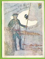 Carte Double Bicentenaire De La Fondation De L'ILE  ROUSSE Par Pascal PAOLI 1769 - 1969 Dessin Original Jean COSTA - Autres Communes