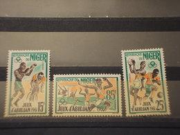 NIGER - 1962 GIOCHI SPORTIVI 3 VALORI - NUOVI(++) - Niger (1960-...)