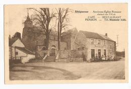 Xhignesse Hamoir Place De L'Eglise Café Restaurant Carte Postale Ancienne - Hamoir