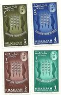 1963 - Sharjah 27/30 Campagna Contro La Fame, - Alimentazione