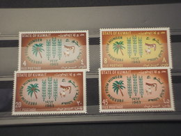KUWAIT - 1962 FAME  4 VALORI - NUOVI(++) - Kuwait