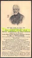 BIDPRENTJE ADEL NOBLESSE  BARON JANSSENS DE BISTHOVEN DE BIE DE WESTVOORDE SINT NIKLAAS WAES 1859 BRUGGE 1938 - Santini