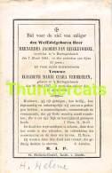 BIDPRENTJE ADEL NOBLESSE JACOBUS VAN RIJCKEVORSEL 'S HERTOGENBOSCH 1841 CLARA VERMEULEN 1797 1862 - Andachtsbilder