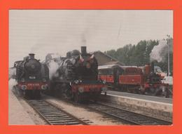 PL/2 FESTIVAL VAPEUR GARE DE PROVINS LOCOMOTIVE 230 G 353 140 C 231 D AJECTA ET O3O T RIMAUCOURT / écrite Timbre Poste - Trains
