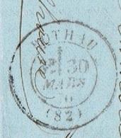 VOGES 88 ROTHAU LAC TAD 17 Du 30/03/1870 GC 3217 Sur N° 29 TTB - Marcophilie (Lettres)