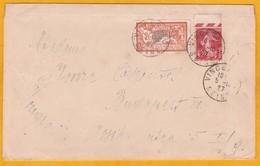 1927 - Enveloppe De Vincennes Vers Budapest, Hongrie - Affranchissement 2 F 40 Merson Et Semeuse - Storia Postale