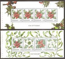 Denmark Danmark Dänemark 2008 Weihnachten Christmas Noel Winter Berries Michel No. 1511-14 Mint MNH Neuf Postfrisch - Markenheftchen