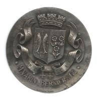 Presse Papiers , Médaille , Banque M. VARIN - BERNIER & Cie, 255 Gr. Diam. 80 Mm, Plus Penser Que Dire , Frais Fr 8.85e - Presse-papiers