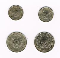 CYPRUS  2 X 1 + 2 X 5  CENTS   1983/1991 - Chypre