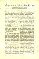 Martin Und Seine Fuenf Söhne (eine Sage Von Friedrich Griese)  /Artikel, Entnommen Aus Zeitschrift /1935 - Livres, BD, Revues