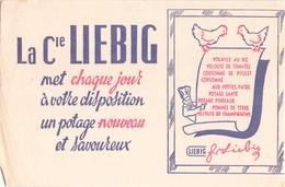 """Buvard """" Liebig """" ( Pliures, Déchirures, Rousseurs, 21 X 13 Cm ) - Potages & Sauces"""