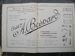 PUBBLICITA'/PUBLICITE' PARE BRISE,PARE CHOC,GASTON GRUMMER Da Rivista AUTO CARRROSSERIE 1927 - Voitures