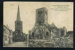 55  REVIGNY L Eglise Avant Et Apres Le Bombardement - Guerre 1914-18