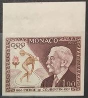 MONACO N° 635 Pierre De Coubertin Jeux Olympiques Non Dentelé Essai Imperf Color Proof Superbe **, Bdf ! RARE ! - Nuovi