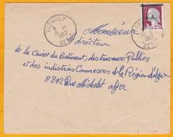 EA - Etat Algérien - 15 Novembre 1962 - Enveloppe De Tazmalt, Sétif Vers Alger - Marianne Decaris Surchargée - Algerien (1962-...)