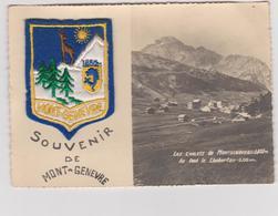Hautes  Alpes : MONT GENEVRE  :  Souvenir  Avec  Le  Blason   , 1966 , Montgenevre - France