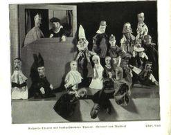 Kasperletheater Mit Handgeschnitzten Puppen (Entwurf Von Waldorf)  / Druck, Entnommen Aus Zeitschrift /1935 - Pacchi