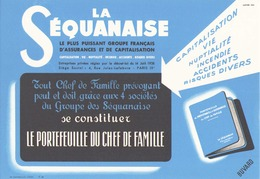 "Buvard "" La Séquanaise "" ( Pliures,  21 X 13.5 Cm ) - Bank & Insurance"