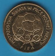 POLAND 2 ZLOTE 2006 FIFA FOOTBALL  KM# 606 - Polonia