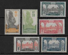 GABON - YVERT N° 82/87 *  - COTE = 10 EUROS - CHARNIERE CORRECTE - Gabon (1886-1936)