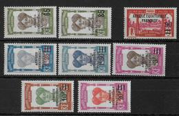 GABON - YVERT N° 108/115 *  - COTE = 51.5 EUROS - CHARNIERE CORRECTE - Unused Stamps