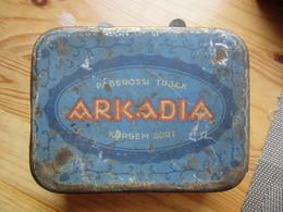 """USSR Russia - Estonia  """" ARKADIA  """"  Metal  Tobacco TIN BOX  1920s - Porta Sigarette (vuoti)"""