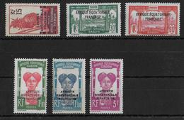 GABON - YVERT N° 116/120 *  - COTE = 24 EUROS - CHARNIERE CORRECTE - Unused Stamps