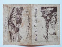 Napoli 60 Sorrento 1893 Menu Hotel Vittoria Vesuve - Italie