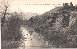 FR66 ESPIRA DE L'AGLY - Brun 1242 - Les Rives Du Llech Et Les Ruines Du Chateau D'ESPIRA - Belle - France